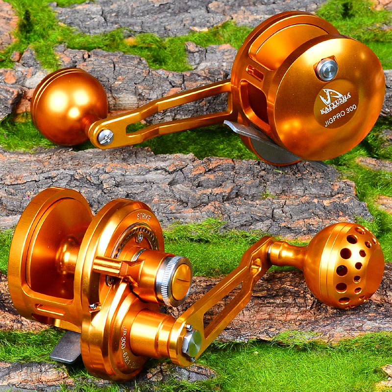 PRO BEROS Jigging Reel Aluminum CNC Machined Fishing Reel Right Left Handl JIG REEL Max Drag