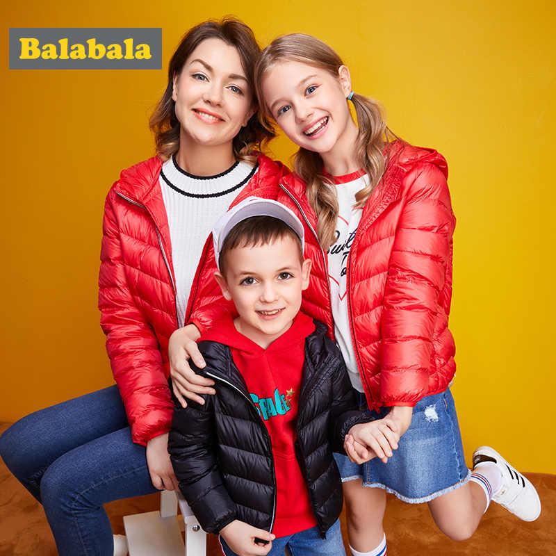 Balabala hooded boy girls baby overalls winter 90% down jacket warm kids coat children snowsuit snow clothes girls clothing