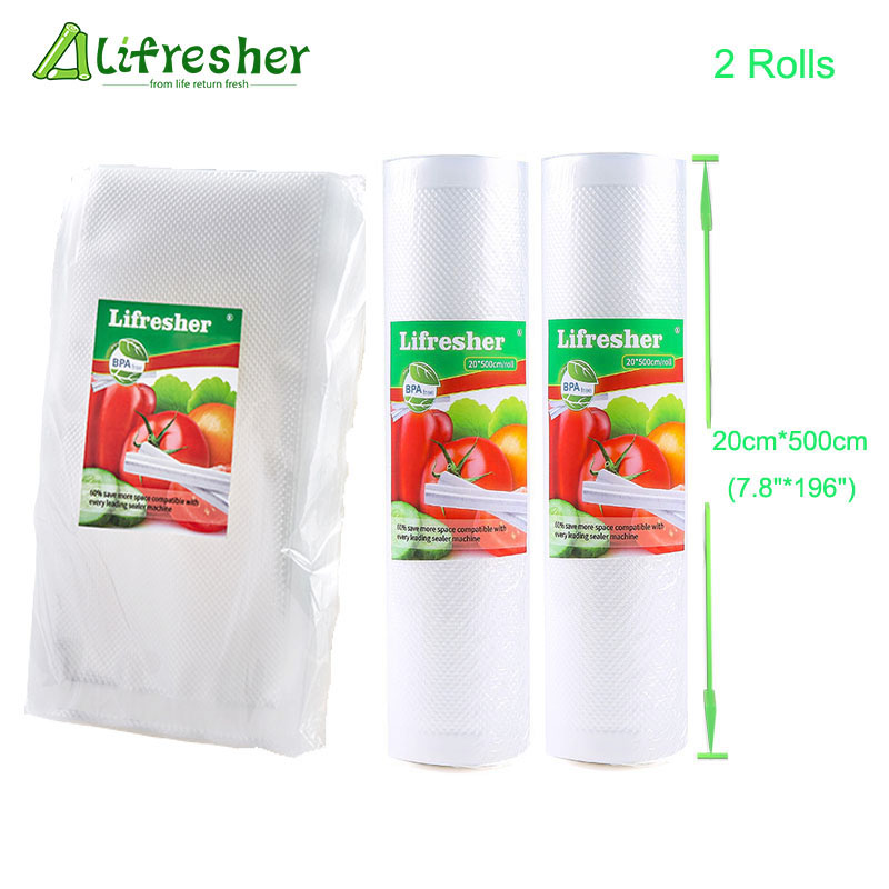 Lifresher Food Vacuum Sealer Food Bag Roll Vacuum Packaging Bags For Food 20×30 25×30 Dropshipping(China)