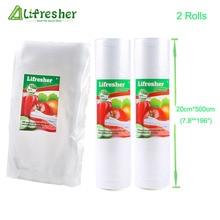 Lifresher вакуумный упаковщик пищевых пакетов рулон вакуумные упаковочные пакеты для пищевых продуктов 20 × 30 25 × 30 дропшиппинг