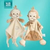 Candice guo mais recente chegada new born baby soft toy calma toalhetes toalha placate mordedor chocalho do bebê macaco de presente de aniversário presente 1 pc