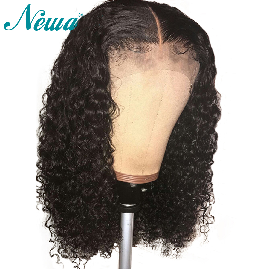 NYUWA Curly Full Lace Human Hair Wigs Pre Plucked Bleached Knots Brazilian Remy Hair Lace Wig