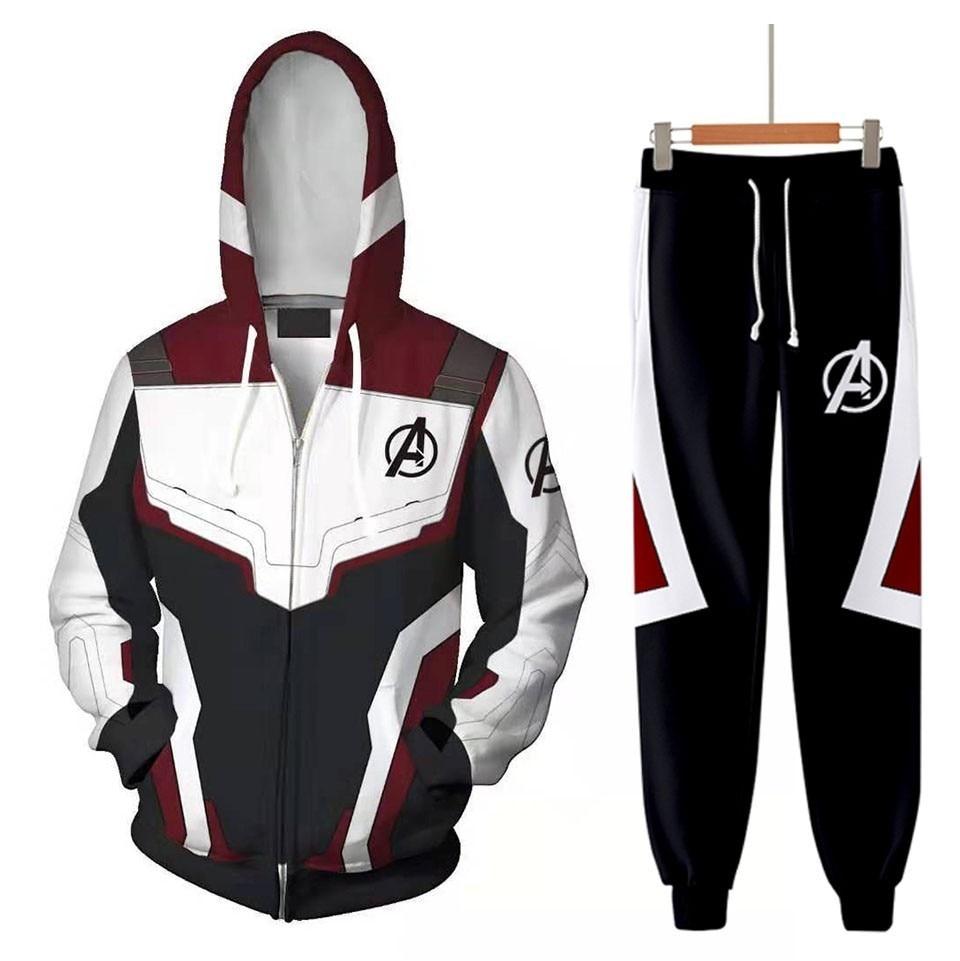 2019 Hoodie Cosplay Avengers 4 Endgame Quantum Realm Sweatshirt Iron Man Jacket Advangers End Game Sets Tech Costumes Superhero