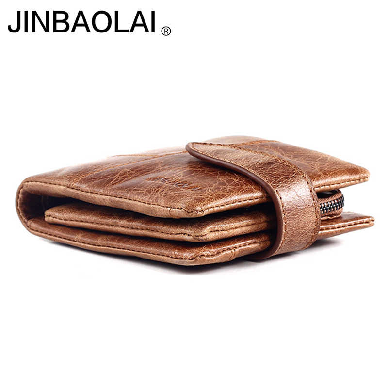 Genuine leather wallet with removable card slots photo holders men wallet purse male clutch short wallet men purse