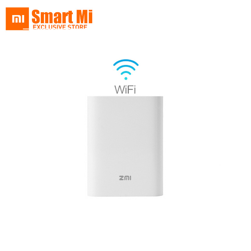 Original New Xiaomi Zmi MF855 7800MAH mifi3G 4G Querysystem 4G Wireless Wifi Router Mobile Power Bank 3.6V/7800mAh Micro USB