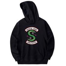Harajuku Streetwear Riverdale Southside Serpents Jughead Schwarz sweatshirt Korean Stil Mode Top Oansatz Kurzarm sweatshirt sweatshirt top miss blumarine sweatshirt top
