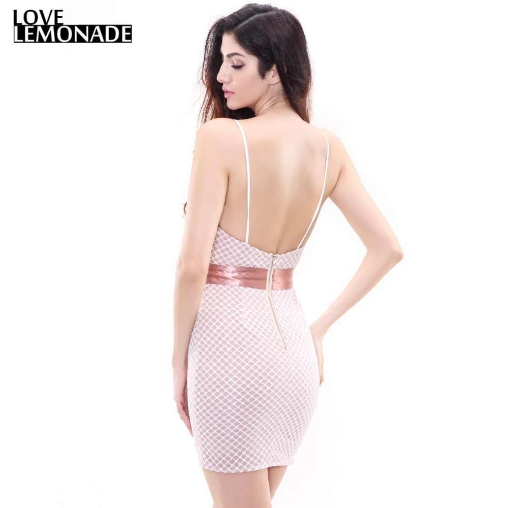 Облегающее вечернее платье с блестками в клетку Love & Lemonade TB 9153