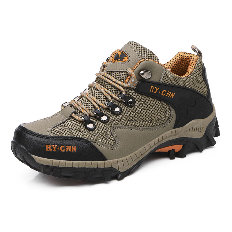 font b Boots b font Men Outdoor Shockproof Mountain Shoes Hard Wearing Rock Climbing Shoes