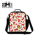 Dispalang Santa Claus printing insulated lunch bags for children thermal cooler bag for girls portable meal food lunch box bags