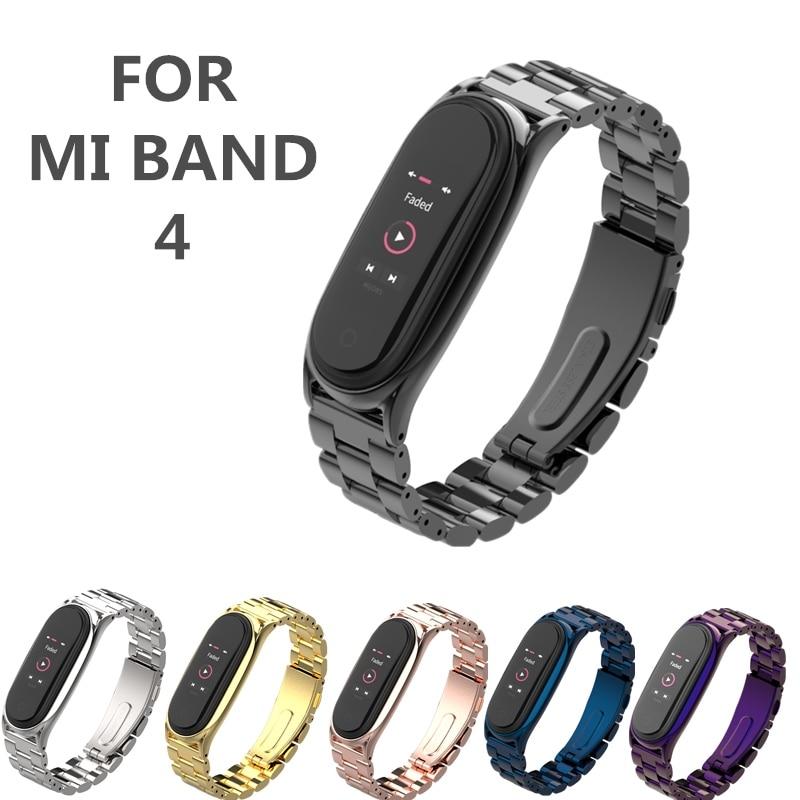 Mi Band 4 Metal Strap Plus For Xiaomi Mi Band 4 Bracelet Screwless Xiaomi MiBand4 Bracelet Xiomi MiBand 4 Wrist Band Steel