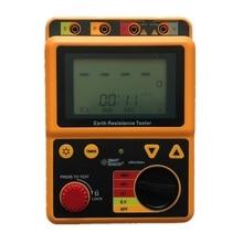 Smart Sensor AR4105A Digital Earth Ground Resistance Meter Tester Megger Test Meter Megohmmeter Range 0-200 Ohm 2/3Lines earth ground resistance clamp meter 0 1200 ohm leakage current tester 0 30a 2in1 rs232 ut278a