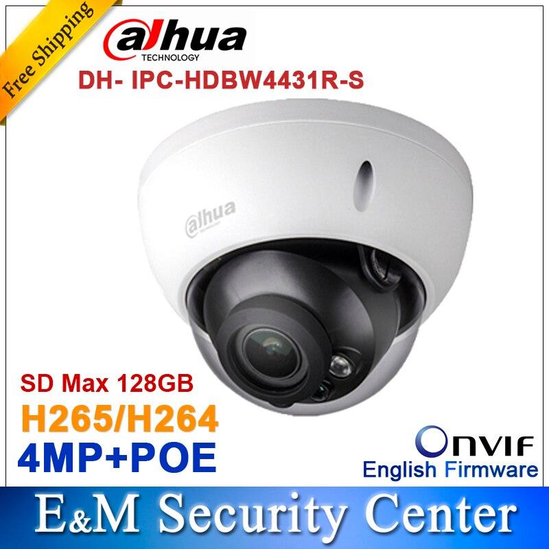 bilder für Original Dahua 4MP IPC-HDBW4431R-S ersetzen IPC-HDBW4421R Ip-kamera HD Netzwerk IR cctv Dome IP Cctv-kamera POE DH-IPC-HDBW4431R-S