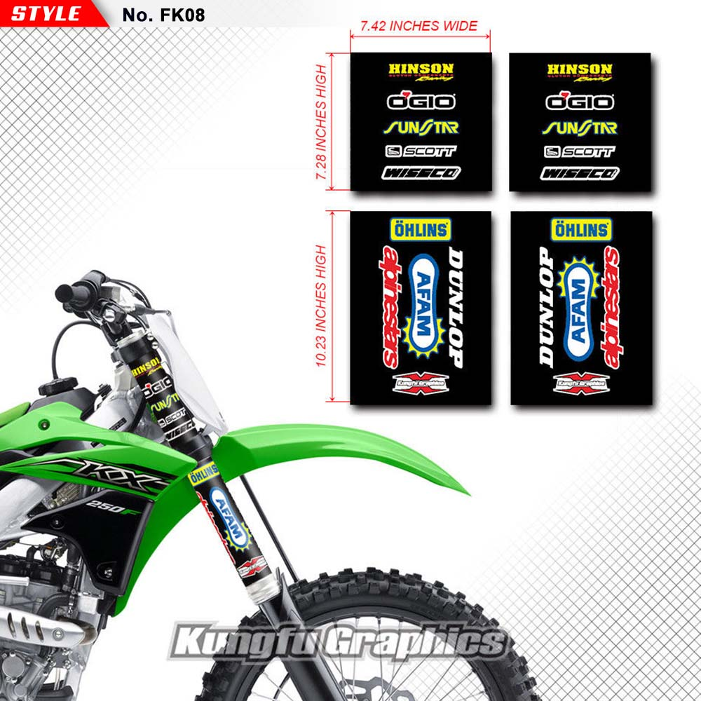 WP UPPER MIDDLE FORK GUARDS DECAL STICKER GRAPHIC MOTOCROSS