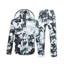 Impermeable Polyester Adult Raincoat Camouflage Men Women Rain Coat Universal Outdoor Waterproof Fishing Rainwear Jacket
