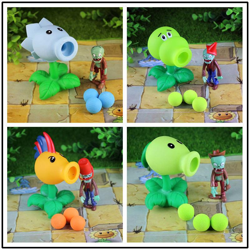[Neue] 4 sätze von kombination 32 stil Pflanzen vs Zombies spielzeug figurine pea sunflower Melone spielzeug PVZ Peashooter PVC