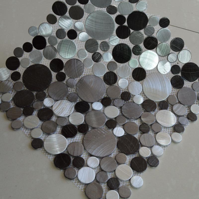 aluminum alloy metal mosaic tiles HMM1005 for backsplash kitchen ...