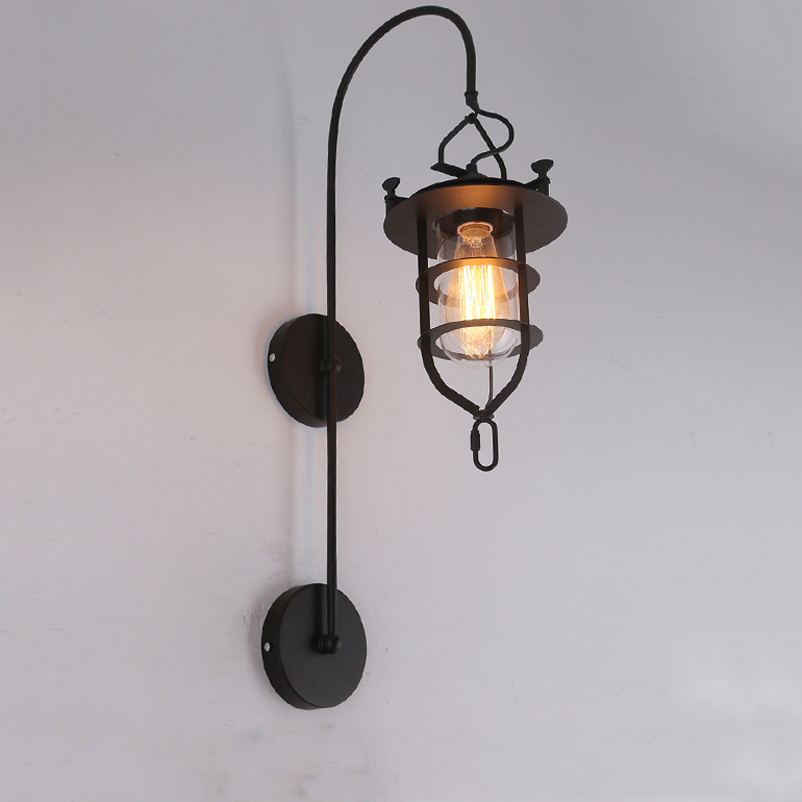 Creative vintage E27 edison wall light bedroom bedside porch living room corridor office light bar club pub cafe wall lamp braCreative vintage E27 edison wall light bedroom bedside porch living room corridor office light bar club pub cafe wall lamp bra