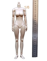 1/6 KUMIK Model Figure Medium Breast Asia Female Body Toy Children Assemble Toy(Rubber Skin Layer)Doll