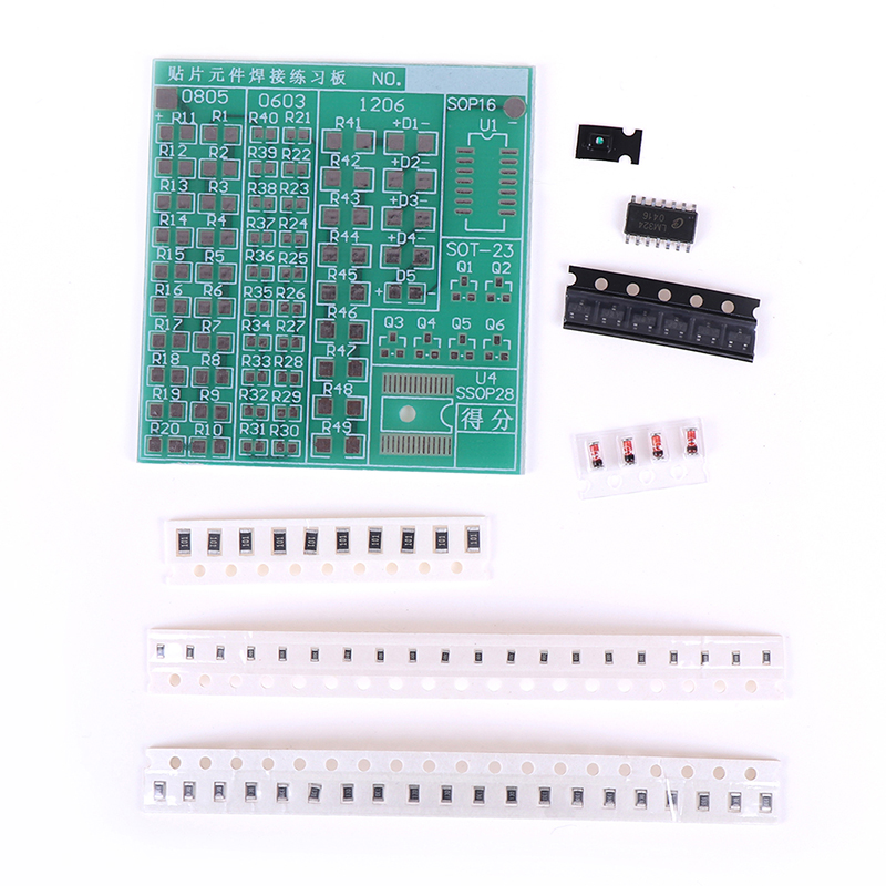 DIY SMT SMD Component Welding Practice Board Soldering Kit Resitor Diode Transistor By Start Learning Electronic High Quality