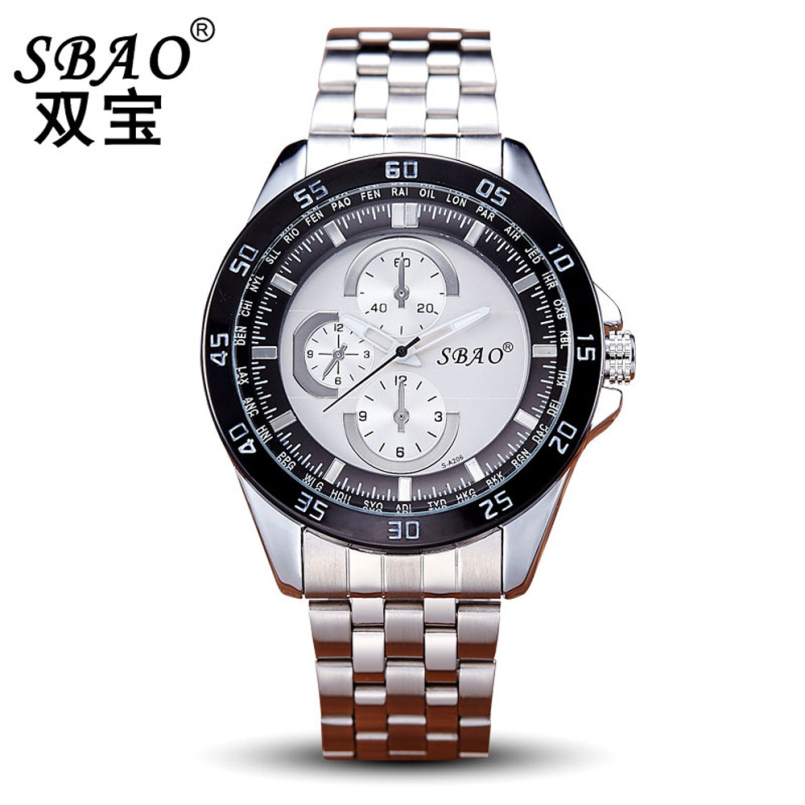Excellent Quality Men Watches Mens Luxury Brand Full Steel Quartz Clock Watch Army Military Sport Watch Relogio Masculino