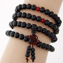 Retro Prayer Buddha Bracelets Shellhard  Unisex Multilayer Wood Beads Bracelet Bangle For Women Men Fashion Jewelry