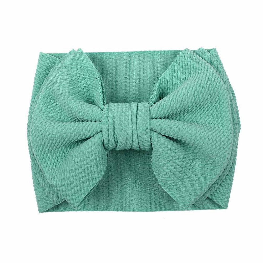 MengNa 20pc/lot Large 7inch Solid Fabric Bows Girls Headband Oversized Bowknot Turban Headwrap Kids Children Hair Accessories