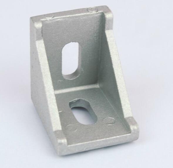 Corner Angle Bracket Joint Aluminum Profile Extrusion CNC DIY 2020 3030 4040 4545 6060 8080 2 hole transition inside corner bracket for 3030 aluminum profile