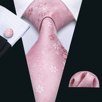 Розовый Цветочные галстук для Для мужчин формальные Бизнес Свадебные Шелковый Галстук Человек аксессуары геометрический жаккард связей 3,...