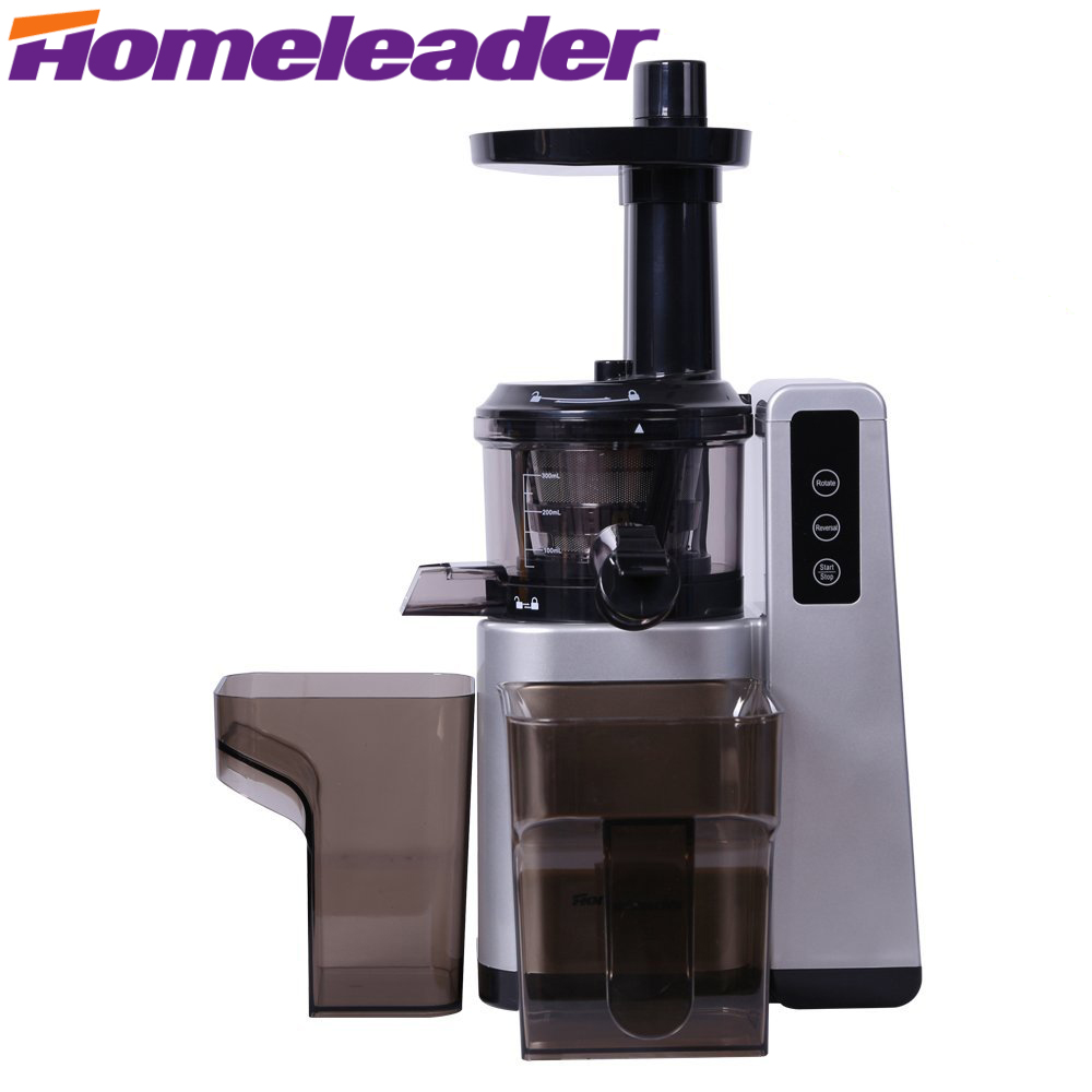 Homeleader Masticating Juicer, Electric Slow Juicer, Fruit and Vegetable Juice Extractor for Higher Nutritional Value household healthy manual slow food juicer extractor fruit vegetable wheatgrass juice squeezing machine
