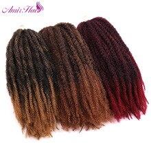 Амир волос 9 пакеты 18 дюймов Синтетические Marley косы с эффектом омбре цвета: красный и коричневый и черный крючком плетения волос