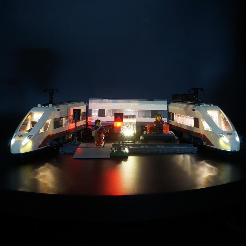 Kyglaring LED Light for LEGO 60051 High Speed Passenger Train Beleuchtungs Sets