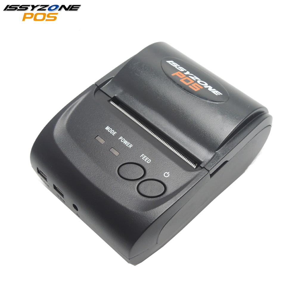 IssyzonePOS 58 mm Bluetooth thermische bonprinter Mini draagbare Android IOS Mobiele POS-printers Gratis SDK voor Windows Android IOS