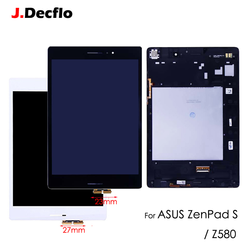8.0'' LCD Display Touch Screen Panel Digitizer Assembly For ASUS Zenpad S Z580 Z580CA Z580C 27/23 mm with Frame Black White for htc desire 816g desire 816h d816g d816h lcd display with white digitizer touch screen frame assembly 100% warranty