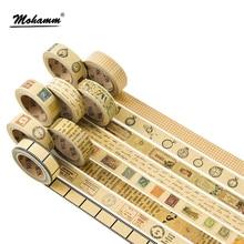 Creative Retro Kraft Paper Masking Washi Tape Decorative Adhesive Tape Diy Scrapbooking School Office Supply Kawaii Stationery