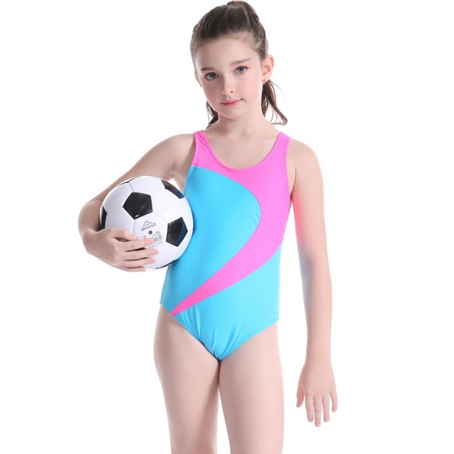3938a1b9311f5 Girl Bathing Suit 2018 Children One Piece Swimsuit Blue Kids Surfing Swim  Clothes Child Girl Competition