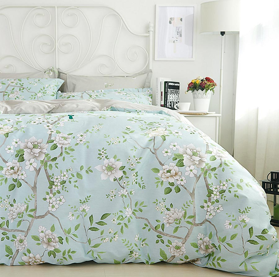 compare prices on floral bed set online shoppingbuy low price  - rustic green floral bed set teenage adultcotton full queen king europedoule home textile