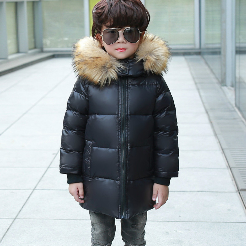 Cross-border 2019 Winter New Childrens Down Jacket Boy Down Jacket Winter Big Fur Collar Girls Long Section CoatCross-border 2019 Winter New Childrens Down Jacket Boy Down Jacket Winter Big Fur Collar Girls Long Section Coat