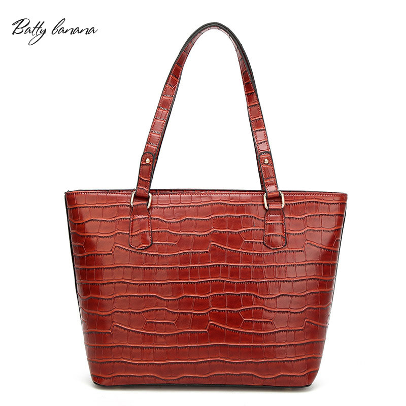 BATTY BANANA  Soft Alligator Handbag  Shoulder Bags Zipper Bag Female Solid Casual Bags For Women 2017 mark batty publisher lifestyle