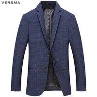 VERSMA Herbst Casual Anzüge Blazer Herren Abendanzug Königsblau Blazer Anzug Jacke Mantel Streifen Büro Männer Blazer Designs für männer