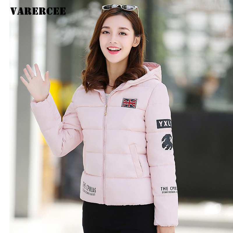 91% cotton Women Jacket Coat 2017 Winter Long sleeve Thick Warm short Woman Parkas High Quality Hooded zipper Female Overcoat