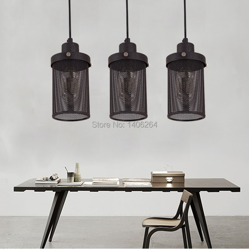 Loft Retro Metal Mesh Droplight Edison Vintage Pendant Lamp Industrial Celing Light For Cafe Bar Hall Balcony Gallery Corridor dysmorphism iron vintage edison loft ceiling light industrial pendant cafe bar