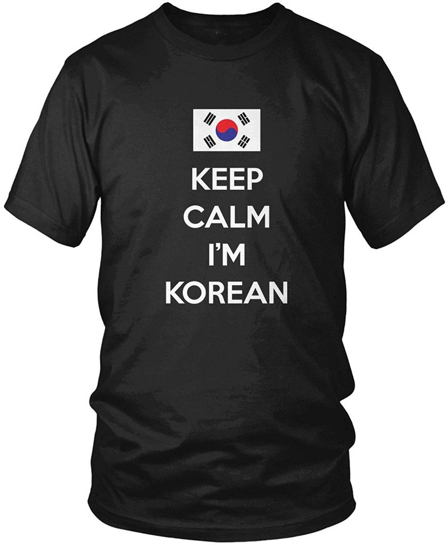 Shirt design new - 2017 New Arrival Men Design T Shirts Casual Cool Keep Calm I M Korean Korea Flag Men S T Shirt