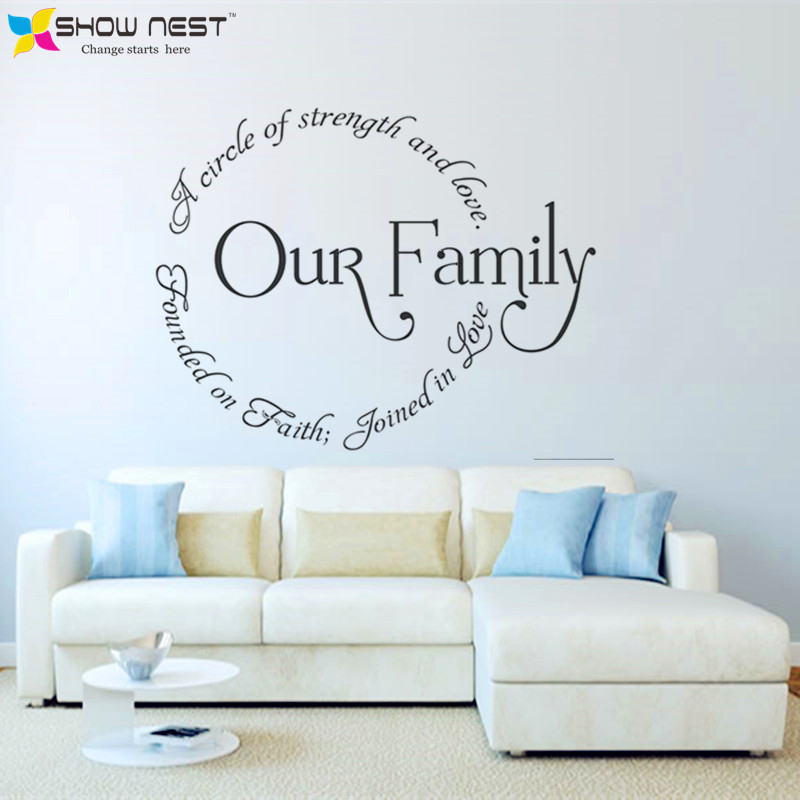 Family Circle Quotes Mural Decor Design