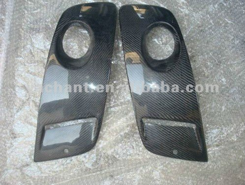 Carbon Fiber Type-2 Style Fog Lamp Covers Fit For Volkswagen Golf MK5 GTI Front Bumper