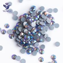 YANRUO 2058HF Light Amethyst AB Flat Back Strass Hotfix Rhinestones Crystal Heat Iron Stones