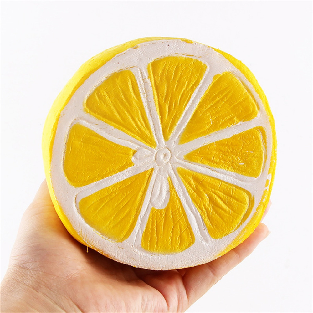 Fresh And Interesting Squeeze Toy Decompression Kids Fun Lemon Scented Fruit Super Slow Rise Key Chain Toy Gift Pendant