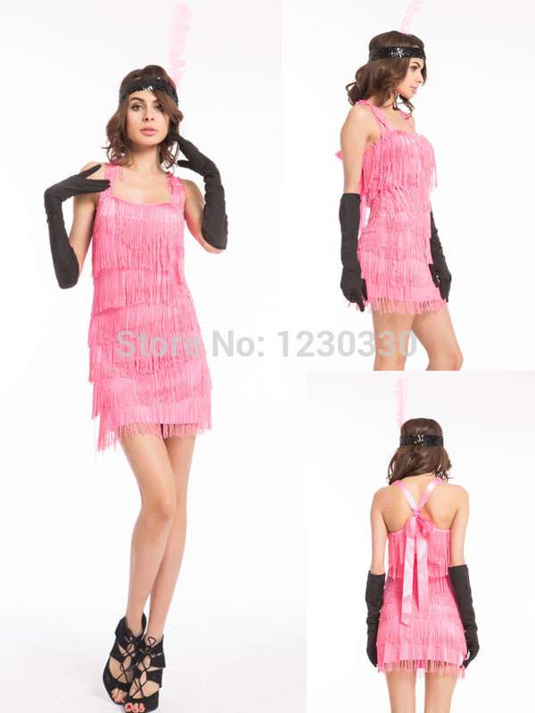 Detail Feedback Questions about free shipping walson 2015 Wholesale 1920s  20s Pink Flapper Costume Charleston Dress Women Sexy Halloween Fancy Party  Costume ... 6ff32438353a