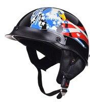 Chopper Motorcycle Half Helmet Retro Germany Harley Cruiser Motor bike Casco Moto Capacetes Vespa Vintage Women Men Helmet