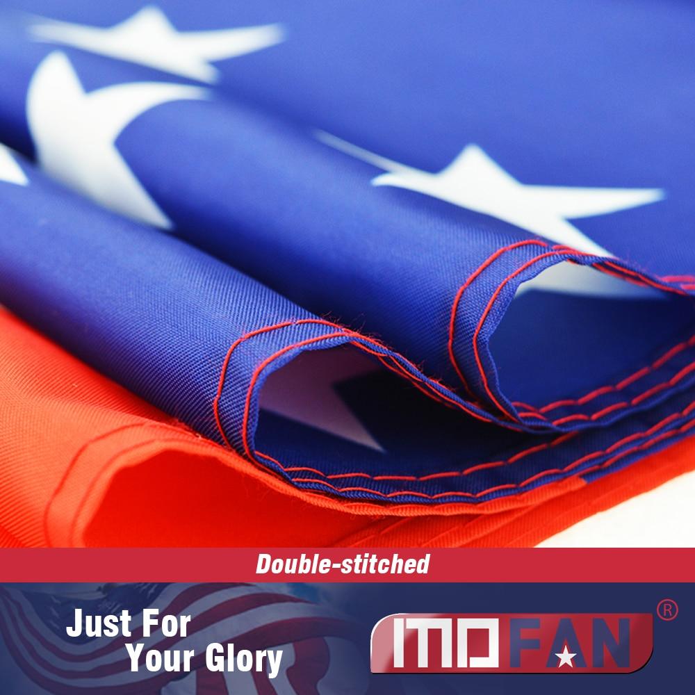 MOFAN US Flag American National Flag- Canvas Header and Double - Heminredning - Foto 3