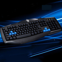 Professional Wired Gaming Keyboard With Grow Logo Light High Silicone Keycap Waterproof Keyboard For Laptop Pc